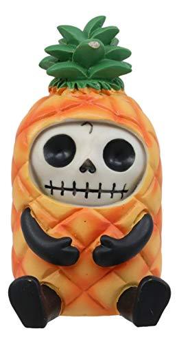 Ebros Furrybones Deko-Skulptur, Motiv: Pina die Tropische Ananas-Figur, klein, 8,4 cm, pelzige Knochen, Skelett, Monster, Sammlerstück, Deko, Gothic, DOD, Strandkopf, Urlaub oder (Honig Bären Kostüm)