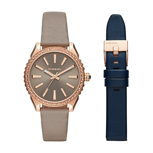 Diesel Women's Analogue Quartz Watch with Leather Strap DZ5563