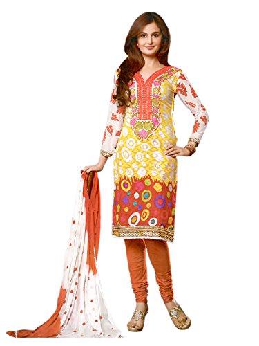 ZANA'S Pakistani Style Multi Color Cotton Dress Material