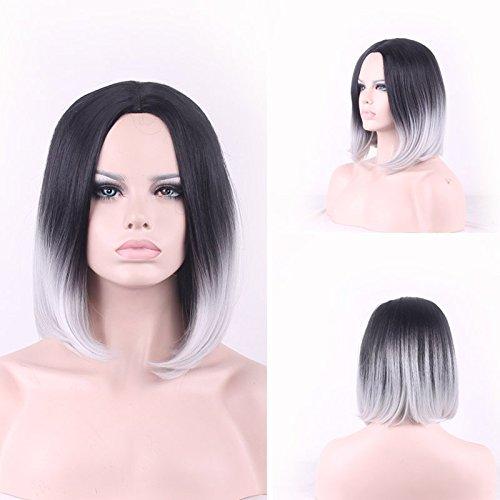 bob-estilo-recto-cola-adduction-sintetico-nobby-negro-gray-gradient-corto-recto-para-mujer-de-cospla