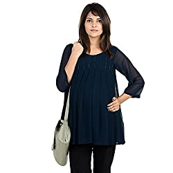 9teenagainAll-over pleated going-out/office wear maternity top