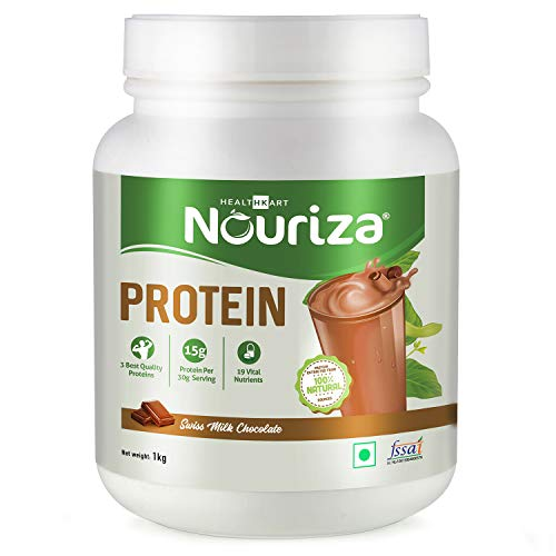 Nouriza Protein- 50% Protein with Whey & Casein (By HealthKart) Chocolate-1 Kg