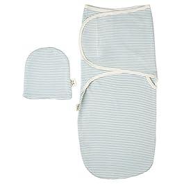 Ultra Soft Swaddle Decke mit Baby Hat Set–Best für Baby Komfortable und Cozy–Natürliche Farbstoffe, Premium Qualität–1Pack, perfekt Baby Dusche Geschenke für Jungen und Mädchen