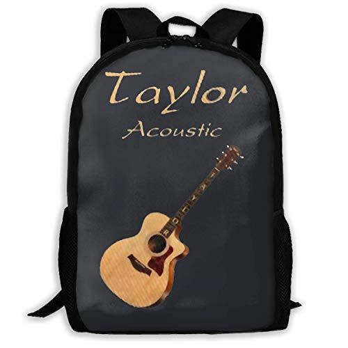 BGKASUH Taylor Rucksack, für die Schule mit Akustikgitarren, bedruckt, wasserabweisend, für Reisen, Laptop, 43,2 cm (17 Zoll)