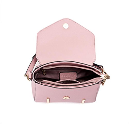 Damen New Fashion Korean Schulter Handtasche Tote PU Tasche schwarz rot pink lila beige rose