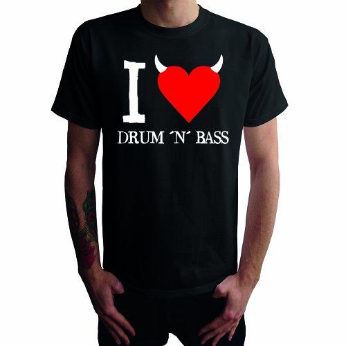 I don't love Drum'n Bass Herren T-Shirt Schwarz