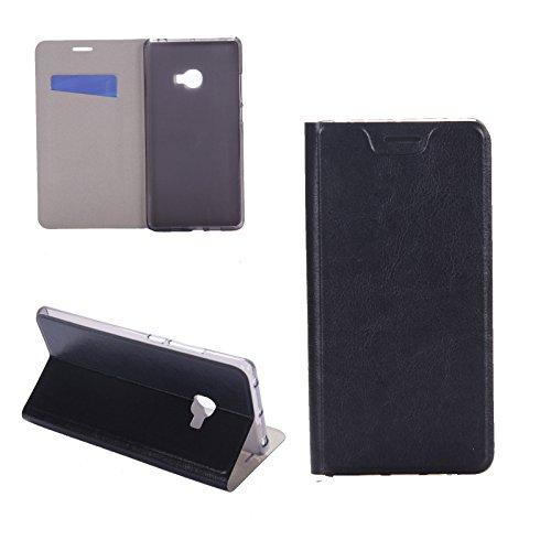 Digital Bay Hülle XIAOMI MI Note 2 Taschen [Flip Armor] Kartenfach [Diamant Schwarz] Doppelte Schutzschicht mit Luftpolster-Kantenschutz - Card Holder Schutzhülle, Jet Black