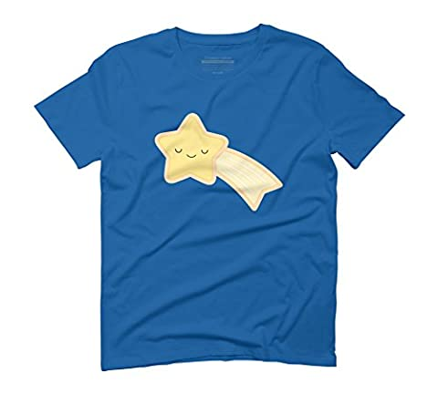 Happy Holidays - Shooting Star Men's 3X-Large Royal Blue Graphic T-Shirt - Design By Humans