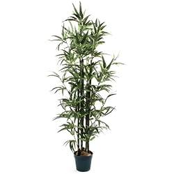 De Vielle - Árbol de bambú Artificial Realista, de Metal, Verde, 1,22 m
