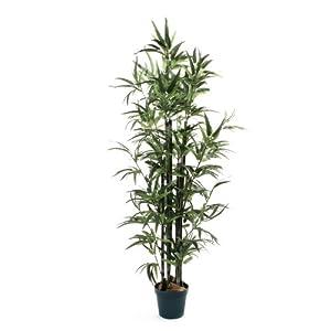 De Vielle – Árbol de bambú Artificial Realista, de Metal, Verde, 1,22 m