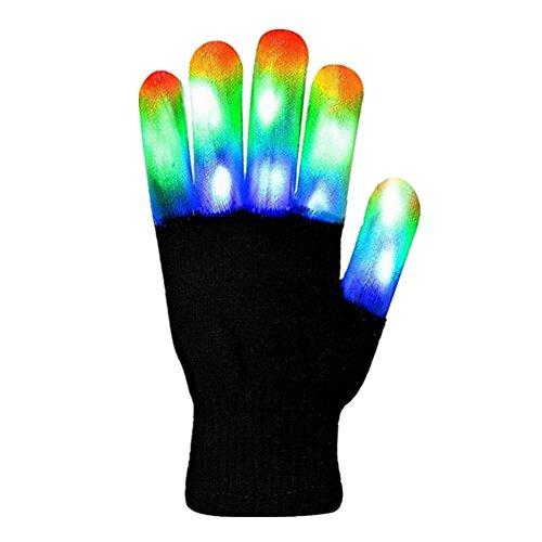 schuhe Stage Performance Handschuhe Bunte Kostüme Requisiten LED-Leuchten Halloween Christmas Supplies (Halloween Kostüme Sind Einfach Zu Machen)