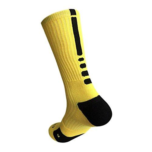ESHOO Männer Junge Basketball Fußball Sport Socken Athletic Lang Socke (Kinder-basketball-socken)