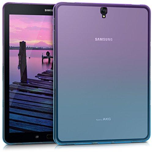 kwmobile Hülle für Samsung Galaxy Tab S3 9.7 T820 / T825 - Case Handy Schutzhülle TPU Silikon für Tablet - Backcover Cover klar Violett Blau Transparent