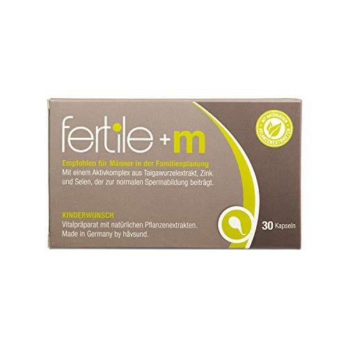 håvsund fertile+m - Nahrungsergänzung für Männer mit Kinderwunsch - Selen, Zink, Vitamin B6 - Hergestellt in Deutschland - 30 Kapseln -