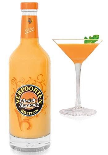 VERPOORTEN Edition Pfirsich-Maracuja 0,5 l Flasche inkl. 2 Likör Cocktail Schalen