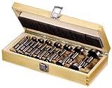 Forstnerbohrersatz 15-teilig im Holzkasten - nach DIN 7483G