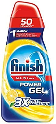 Finish All in 1 Max Powergel Detersivo Lavastoviglie, Limone, 650ml