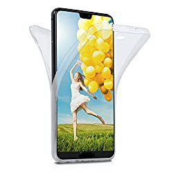 Moex Huawei P20 Pro Hülle Silikon Transparent 360 Grad [Oneflow Double Side Cover] Dünne Schutzhülle Slim Handyhülle Für Huawei P20 Pro Case Klar Silikonhülle Tpu