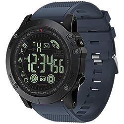 Montre connectée numérique de Sport de qualité Militaire Ultra résistante pour Sports de Plein air Étanche Podomètre Compteur de Calories Multifonction Bluetooth