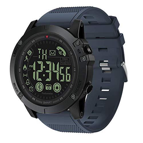 Digital Sports Smart Watch Military Grade Super Tough Outdoor Sports Talking Watch Waterproof Pedometer Calorie Counter Multifunction Bluetooth Smart Watch (Blau) -