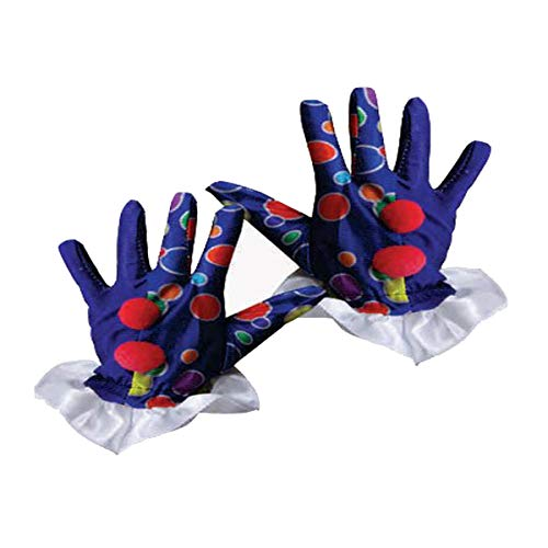 Dress Up America 623-B Clown Handschuhe, Blau, - Ringling Bros Clown Kostüm