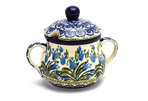 Polish Pottery Sugar Bowl – Blue Bells