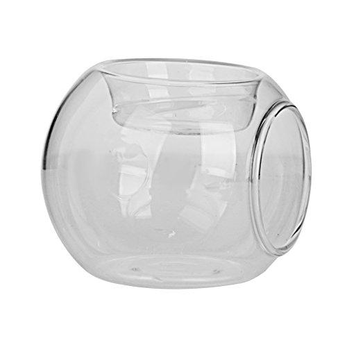 8x6,5cm Palla Vaso Vetro Lanterna Porta Candele Tavola Bonsai Decor Casa