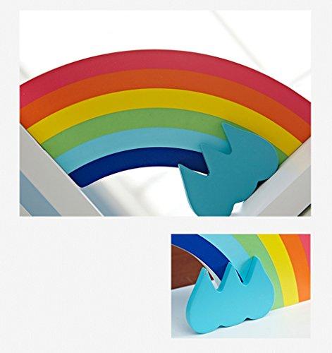 DFHHG® Estantería de pie, libro estampado libro aprendizaje de almacenamiento estante adornos de los niños de la joyería modelo de libro de madera del archivo del libro del bloque europeo durable