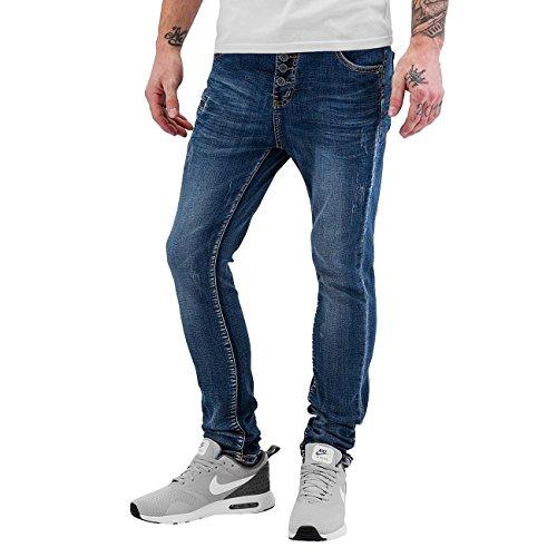 Bangastic Herren Jeans / Antifit Open Placket Blau