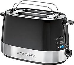 Clatronic TA 3574 Toaster, Edelstahleinlage, Cool-Touch-Gehäuse, inkl. Aufwärm-, Auftau-, Schnellstopp- und Zentrierungsfunktion