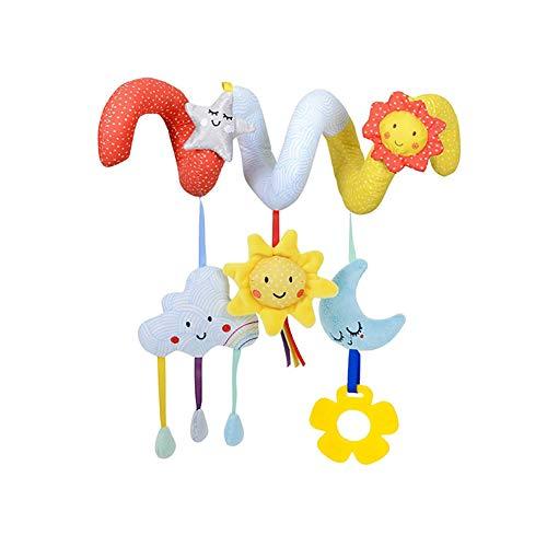 Cuna bebé juguetes colgantes felpa espiral animales