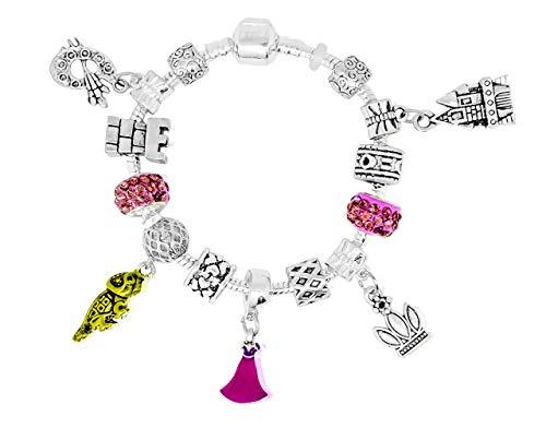 Rapunzel Disney-Prinzessinnen inspirierten Charm Armbänder für Mädchen