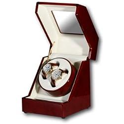 R.U.Braun Unisex Watch Winder 1002279 Penta for 1-2 Watches Digital Root Wood