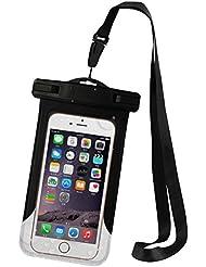 urnice Étui étanche universel Durable étanche sac sec (certifié IPX8à 100pieds) Sangle avec brassard pour Apple iPhone 63s, 6S Plus, se 5S, Samsung Galaxy S7/S7edage et autres smartphones, noir