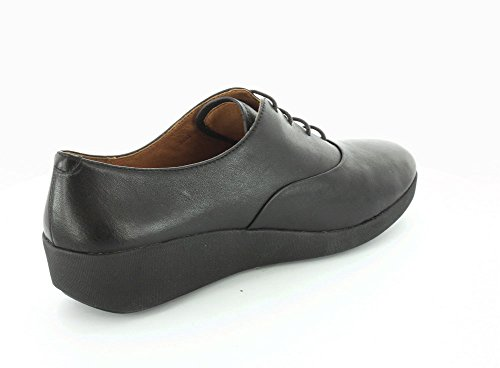 FitFlop F-pop Scarpe Ladies Oxford In Pelle Nera All