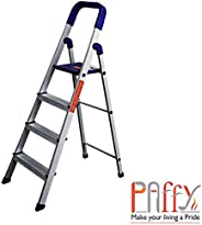 PAffy Premium Aluminium Heavy Duty Folding Step Ladder 4 Steps
