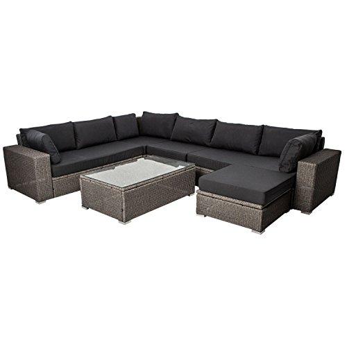 Polyrattan Gartenmöbel Lounge Sitzgruppe Hawaii Premium für 6 Personen