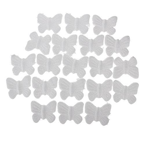 Unbekannt Non-Brand 20pcs Schmetterling Geformt Modellierung Polystyrol Styropor Ornamente DIY