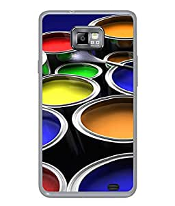 Fuson Designer Back Case Cover for Samsung Galaxy S2 I9100 :: Samsung I9100 Galaxy S Ii (Painting Artist Young Male Female Boy Girl)