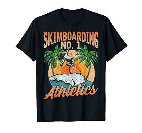 Skimboard Rider Waves Surfen Skim Boarder Beach Athlete T-Shirt