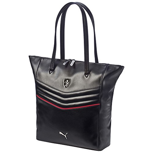 Puma Ferrari Ls Shopper (073943), Black, Taglia unica Black