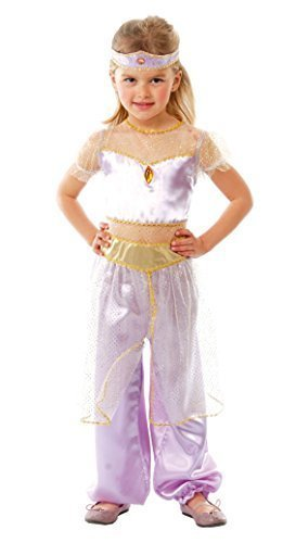 Fancy Me Mädchen Arabische Prinzessin der Wüste Jasmin Büchertag Karneval International Kostüm Kleid Outfit 5-12 - Lila, 7-9 years (Prinzessin Jasmin Kostüm Kind)