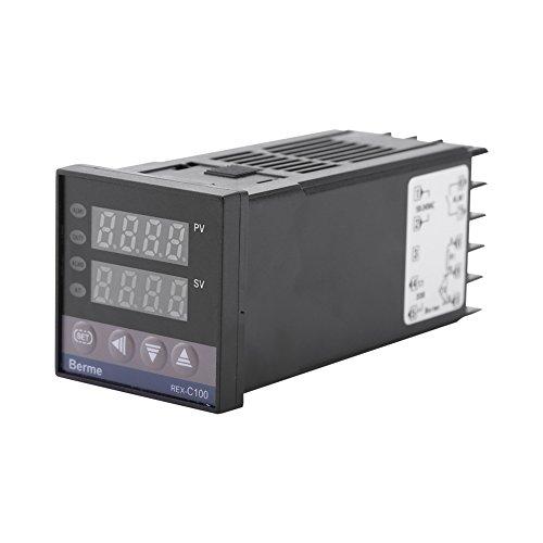 Walfront 0℃~1300℃ Digitale Alarm REX-C100 Dual Digital Temperaturregler Thermoelement LED PID Temperature Controller Relais Ausgang AC 110V-240V
