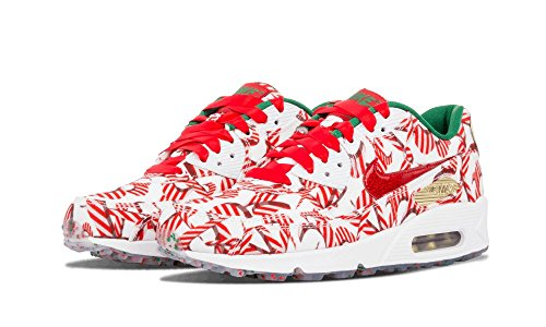 Nike - Wmns Air Max 90 Qs, Scarpe sportive Donna Bianco (Blanco (White / University Red-Mtllc Gld))