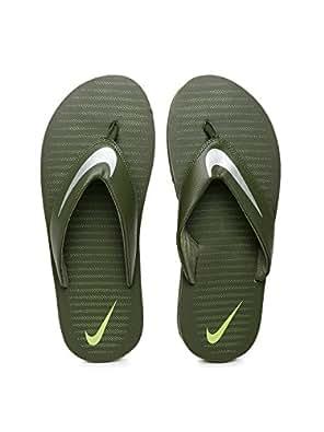1ea3c4ffe88f ... Nike Men s Olive Green Flip-Flops and House Slippers (N833808301GRN) (6  UK)