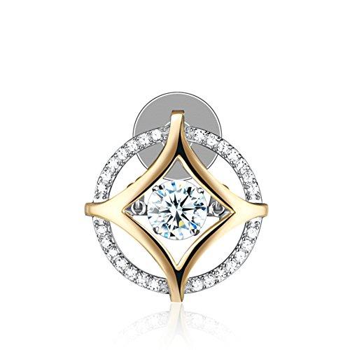 amour broche/Zircon925 axe argent/Broche femelle accessoires/ bijoux A