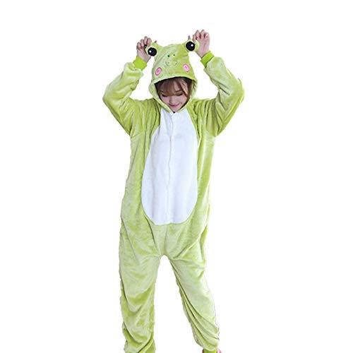 Flanell Grüne Kostüm - DUKUNKUN Erwachsene Pyjamas Frosch Pyjamas Kostüm Flanell Stoff Grün Cosplay Für Tier Nachtwäsche Cartoon Halloween Festival/Urlaub/Weihnachten,L