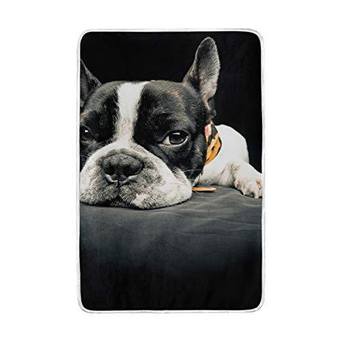 vinlin Bonito Manta Francesa Bulldog lanzar Cristal Terciopelo acogedora cálida Manta de...