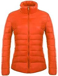 Highdas Mujeres Ultra Light Down Jacket Winter Coat Portable Parka Chaquetas