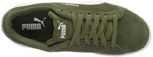 Puma Smash SD, Sneakers Basses Mixte Adulte Vert (Burnt Olive-puma White 08)